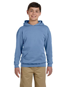 Light Blue Youth 8 oz., 50/50 NuBlend® Fleece Pullover Hood