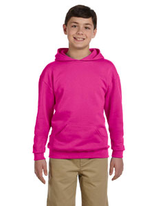 Cyber Pink Youth 8 oz., 50/50 NuBlend® Fleece Pullover Hood