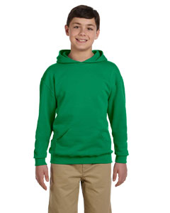Kelly Youth 8 oz., 50/50 NuBlend® Fleece Pullover Hood