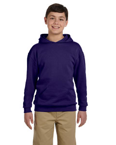 Deep Purple Youth 8 oz., 50/50 NuBlend® Fleece Pullover Hood