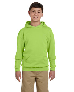 Neon Green Youth 8 oz., 50/50 NuBlend® Fleece Pullover Hood