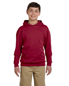 Crimson Youth 8 oz., 50/50 NuBlend® Fleece Pullover Hood