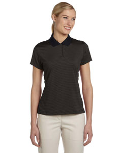 Black/matrix Women's ClimaLite® Classic Stripe Short-Sleeve Polo