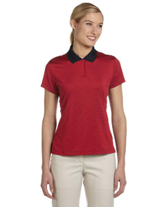 Black/university Red Women's ClimaLite® Classic Stripe Short-Sleeve Polo