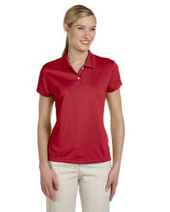 University Red/black Women's ClimaLite® Short-Sleeve Piqué Polo