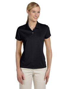Black/white Women's ClimaLite® Short-Sleeve Piqué Polo