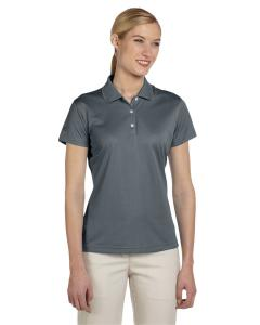 Lead/ Black Women's ClimaLite® Basic Short-Sleeve Polo