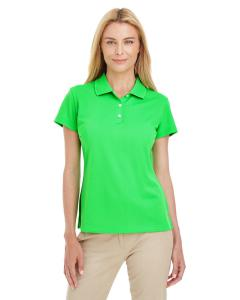 Solar Lime/ Whte Women's ClimaLite® Basic Short-Sleeve Polo