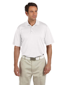 White Men's ClimaLite® Textured Short-Sleeve Polo