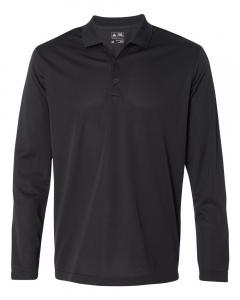 Black/ White Men's Climalite Long-Sleeve Polo