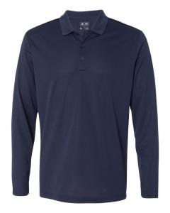 Navy/ White Men's Climalite Long-Sleeve Polo
