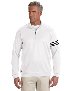 White/black Men's ClimaLite® 3-Stripes Pullover
