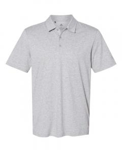 Medium Grey Heather Men's Cotton Blend Polo