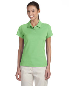 Greenwich/white Women's ClimaLite® Tour Pique Short-Sleeve Polo