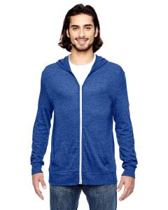 Eco Pacific Blue Unisex Eco-Jersey Zip Hoodie