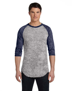 Grey Heathr/ Nvy Unisex Big League Baseball T-Shirt