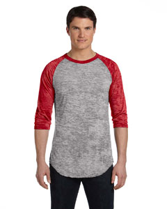 Grey Hthr/ Red Unisex Big League Baseball T-Shirt