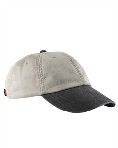 Stone/black Optimum Pigment-Dyed Cap