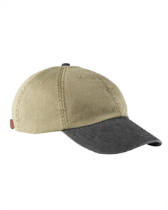 Khaki/black Optimum Pigment-Dyed Cap
