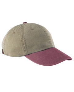 Khaki/burgandy Optimum Pigment-Dyed Cap