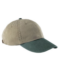 Khaki/forest Optimum Pigment-Dyed Cap
