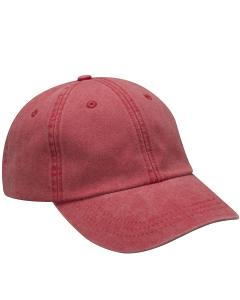 Red Optimum Pigment-Dyed Cap