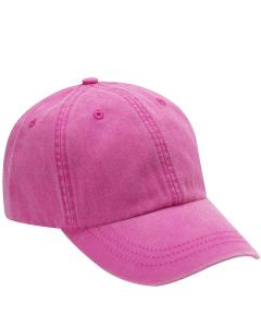 Neon Pink 6-Panel Low-Profile Washed Pigment-Dyed Cap