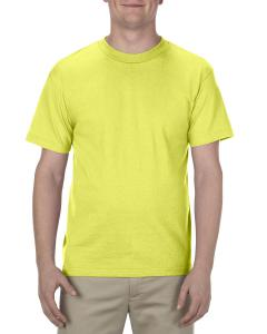 Safety Green Adult 6.0 oz., 100% Cotton T-Shirt
