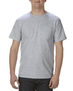 Athletic Heather Adult 6 oz. 100% Cotton Pocket T-Shirt