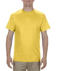 Yellow Adult 5.1 oz., 100% Cotton T-Shirt