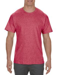 Red Heather Adult 5.1 oz., 100% Cotton T-Shirt