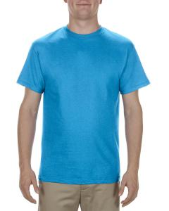 Turquoise Adult 5.1 oz., 100% Cotton T-Shirt