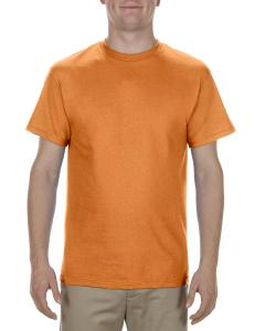 Orange Adult 5.1 oz., 100% Cotton T-Shirt