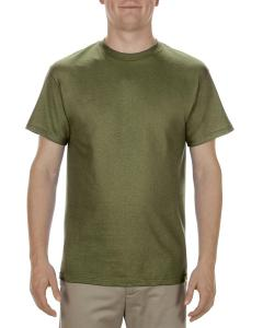 Military Green Adult 5.1 oz., 100% Cotton T-Shirt