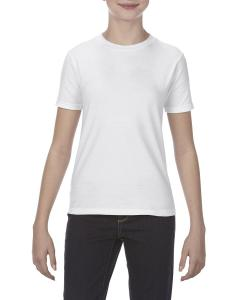 White Youth 4.3 oz., Ringspun Cotton T-Shirt