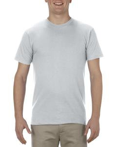 Silver Adult 4.3 oz., Ringspun Cotton T-Shirt