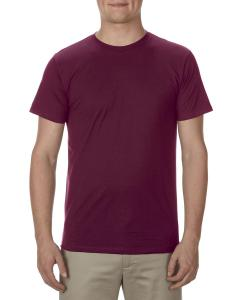 Burgundy Adult 4.3 oz., Ringspun Cotton T-Shirt