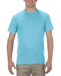 Pacific Blue Adult 4.3 oz., Ringspun Cotton T-Shirt