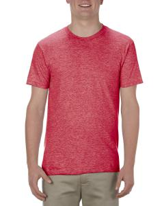 Red Heather Adult 4.3 oz., Ringspun Cotton T-Shirt