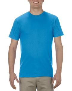 Turquoise Adult 4.3 oz., Ringspun Cotton T-Shirt