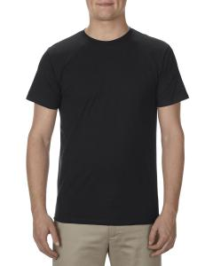 Black Adult 4.3 oz., Ringspun Cotton T-Shirt
