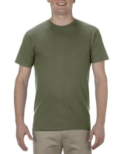 Military Green Adult 4.3 oz., Ringspun Cotton T-Shirt