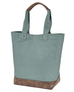 Cypress/ Brown Canvas Resort Tote