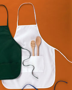 "White Two-Pocket 28"" Apron"