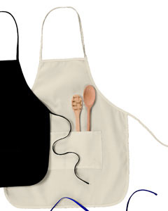 "Natural Two-Pocket 28"" Apron"