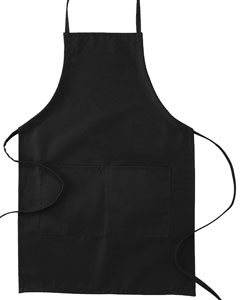 "Black Two-Pocket 30"" Apron"