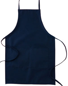 "Navy Two-Pocket 30"" Apron"