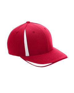 Sport Red/ White Adult Pro-Formance Front Sweep Cap by Flexfit