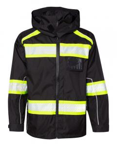 Black/ Lime Enhanced Visibility Premium Jacket