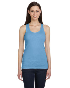 Ocean Blue Women's 2x1 Rib Racerback Longer Length Tank